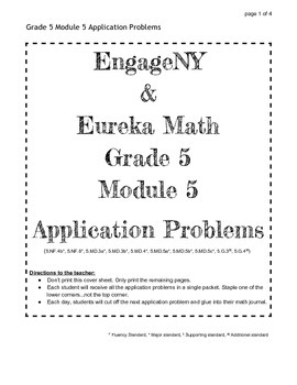 EngageNY Grade 5 Module 5 Application Problems