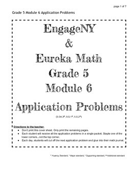 EngageNY Grade 5 Module 6 Application Problems