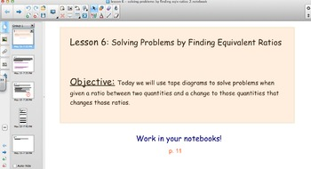EngageNY - Grade 6 Module 1 Lesson 6 (Solving Problems by Finding Equiv Ratios)