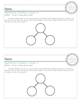 EngageNY Kindergarten Math Module 4 Application Problem Papers