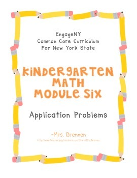 EngageNY Kindergarten Math Module 6 Application Problem Papers