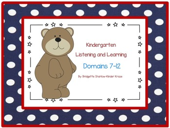EngageNY Listening and Learning Kindergarten Domains 7-12