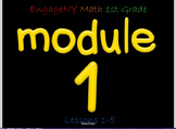 EngageNY Math 1st Grade Smartboard Activities Module 1 Lessons 1-5