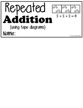 Using Tape Diagrams Flip book (Supplement EngageNY 2nd Grade Module 6 Lesson 1)