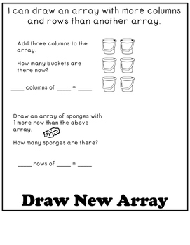 Represent Arrays Math Drawings (Supplement EngageNY 2nd Grade Module 6 Lesson 7)