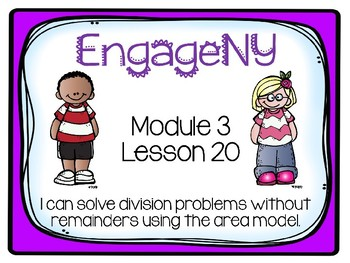 EngageNY Math 4th Grade Module 3, Lesson 20