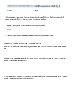 Spanish EngageNY Math Grade 3 End of Module 1 Assessment