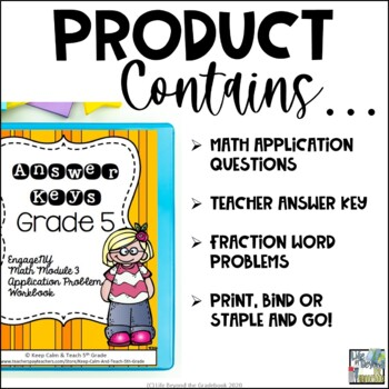 5th Grade EngageNY/Eureka Math Module 3 - Application Problem Workbook