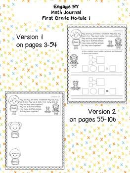 EngageNY Math Journal Grade 1 Module 1