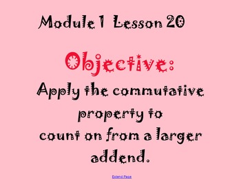 EngageNY Math Module 1 Lessons 16-20 Smartboard Files