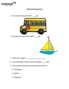 EngageNY Math Unit 2 Study Guide