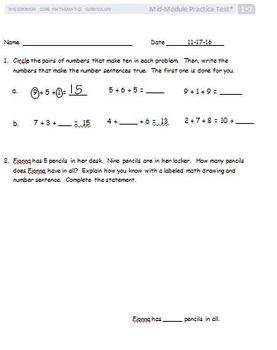 EngageNY Modified Lessons First Grade - EDITABLE