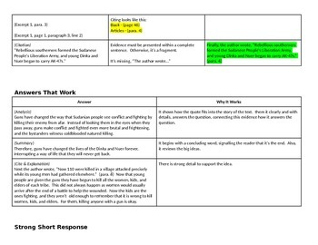 EngageNY: Module 1 Long Walk to Water - Unit 1 (Reteach Write Short Response)