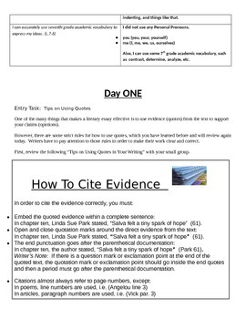 EngageNY: Module 1 Sudan, Unit 2, Lessons 10-19 Packet