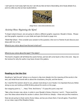 EngageNY: Mod1, Unit 1 Long Walk to Water Lesson 1 Student Work Packet