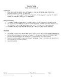 EngageNY: Mod1, Unit 1 Long Walk to Water Lesson 12 Student Work Packet
