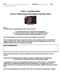 EngageNY: Mod1, Unit 1 Long Walk to Water Lesson 2 Student Work Packet