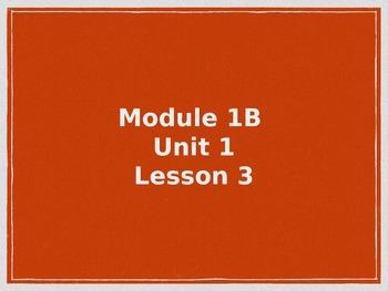 EngageNY Module 1B Unit 1 Lesson 3
