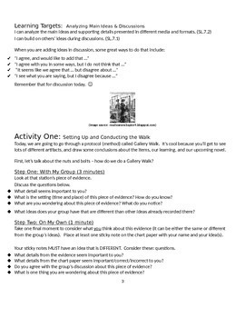EngageNY: Module 2A (Lyddie), Unit 1, Lesson 1 Student Work Packet