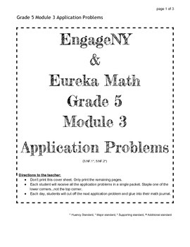 EngageNY Grade 5 Module 3 Application Problems