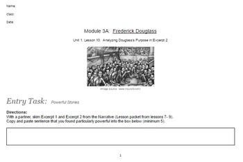 EngageNY: Module 3 (F. Douglass), Unit 1 Les 10