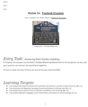 EngageNY: Module 3 (F. Douglass), Unit 1 Les 13