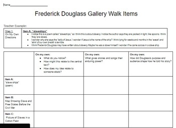 EngageNY: Module 3 (F. Douglass), Unit 1 Les 2