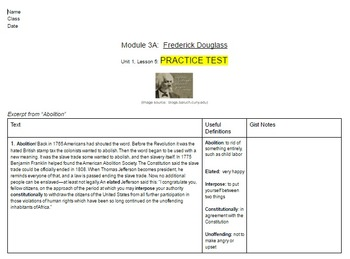 EngageNY: Module 3 (F. Douglass), Unit 1 Les 5