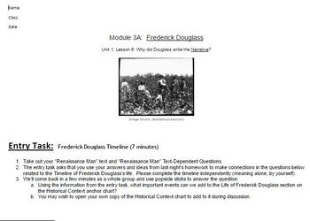 EngageNY: Module 3 (F. Douglass), Unit 1 Les 6