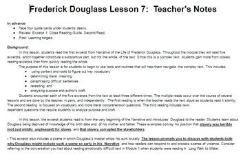 EngageNY: Module 3 (F. Douglass), Unit 1 Les 7