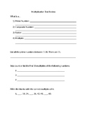 EngageNY Module 3a (Multiplication) Test Review
