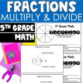 5th Grade Fraction Practice Booklet - Multiply and Divide