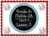 EngageNY PowerPoint Presentation Fifth Grade: ELA Module 3A Unit 1 Lesson 3