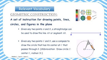 EngageNY PowerPoint Presentation Geometry: Module 1, Topic A, Lesson 1
