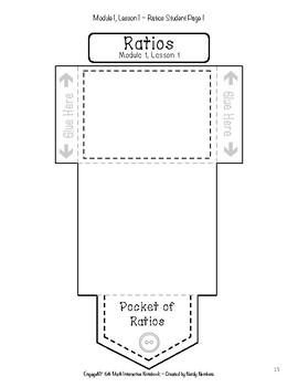 EngageNY Ratios & Unit Rates Module 1 6th Grade Math Interactive Notebook Set