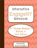EngageNY Ratios & Unit Rates Module 1 6th Grade Math Interactive Notebook Set