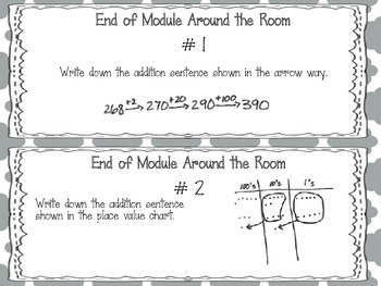 EngageNY 2015 Second Grade Math Module Five Review Pack and Game