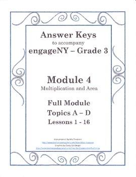 EngageNY Third Grade Module 4 - Answer Keys (FULL MODULE)