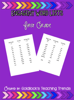 EngageNY Word Lists