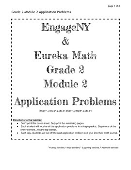 EngageNY and Eureka Math Grade 2 Application Problems for ALL MODULES