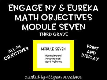 EngageNY and Eureka Math Objectives, Module 7, Third Grade