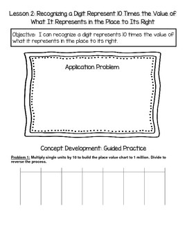 EngageNY 4th Grade Math Module 1 Topic A Journal