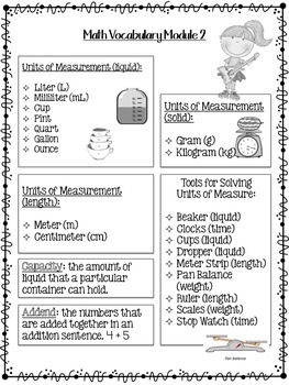 EngageNy Grade 3 Module 2 Parent Notes