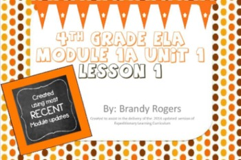 Engaged NY: 4th Grade ELA  Module 1A Unit 1 Lesson 1 Powerpoint