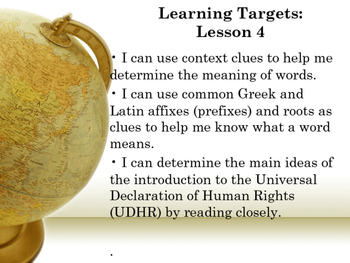 Engaged NY5th Grade Module 1, Unit 1 Learning Targets