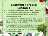Engaged NY5th Grade Module 2a, Unit 2 Learning Targets