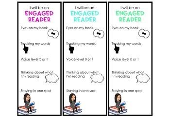 Engaged Reader Bitmoji Bookmarks {Editable}