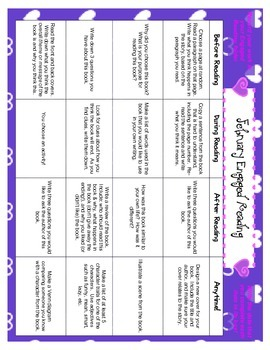 Engaged Reading Activity Charts - Monthly September to June