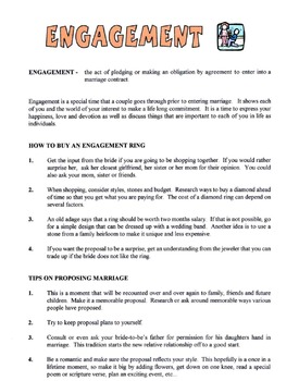 Engagement /Getting Engaged Lesson