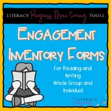 Engagement Inventory Forms for Reading and Writing--Group & Individual Forms